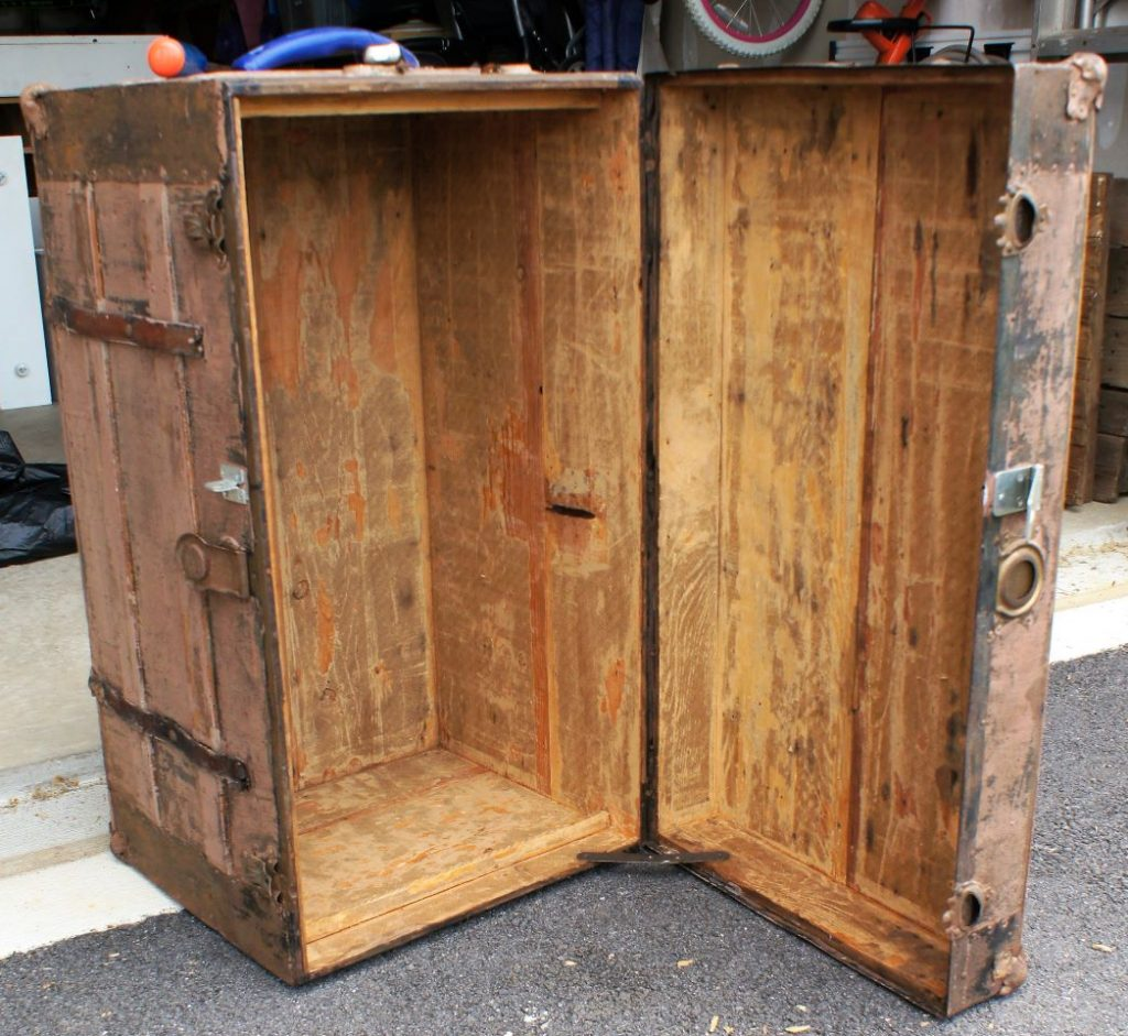 Antique trunk with cleaned out insides