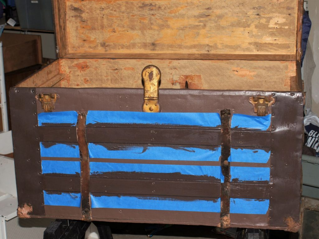 Antique trunk painting