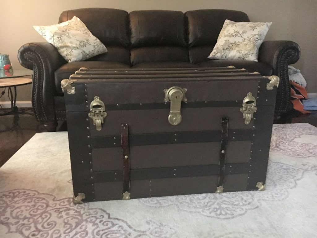 Antique trunk finished product