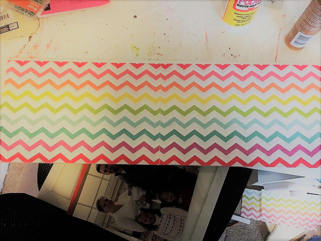 Rainbow scrapbook paper