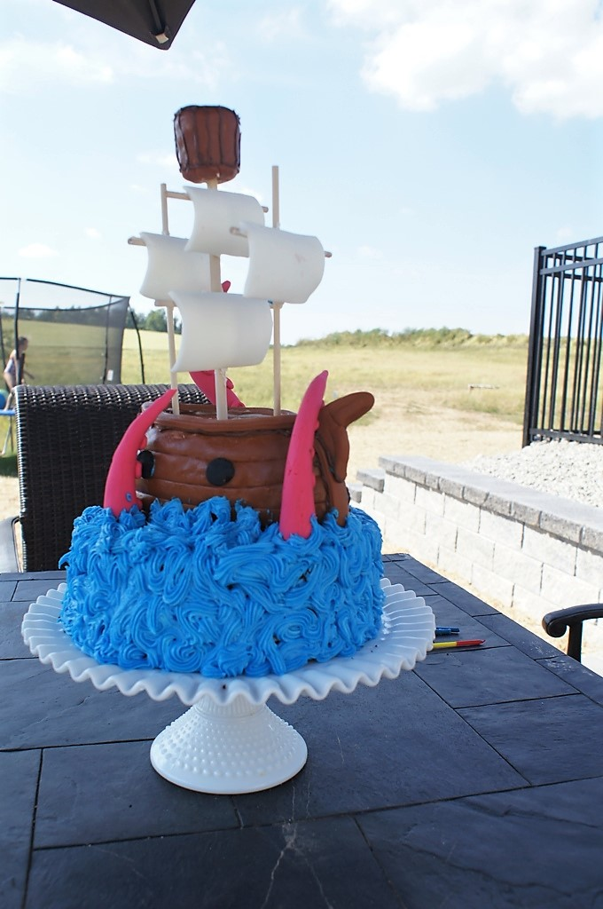 Pirate Party Treasure Hunt Cake
