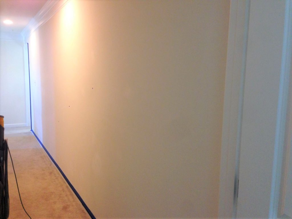 The long hallway that inspired this hallway paint idea