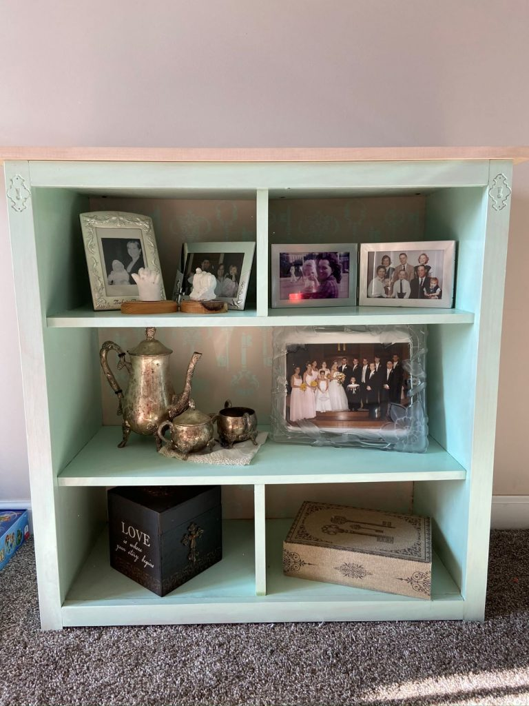Finished composite bookcase