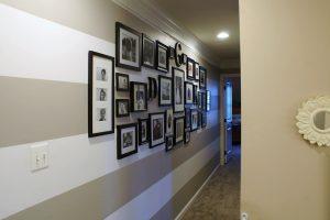 Strip Hallway Paint Idea