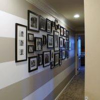 Strip Hallway Paint Idea